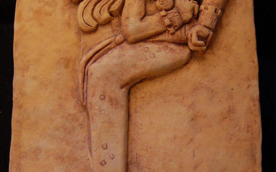 Réplica de un relieve maya de terracota