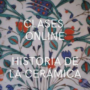 Detalle de decoración de una pieza de cerámica Iznik con motivos florales en colores verde, azul y rojo, de apariencia clara, lisa y suave.