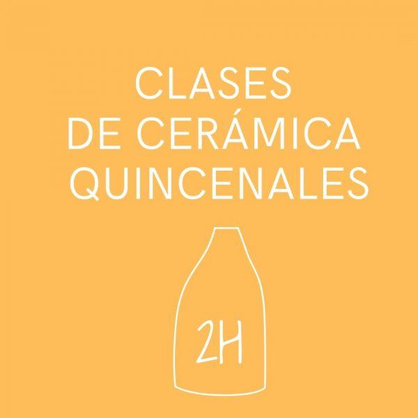 clases presenciales de cerámica quincenales de dos horas de duración