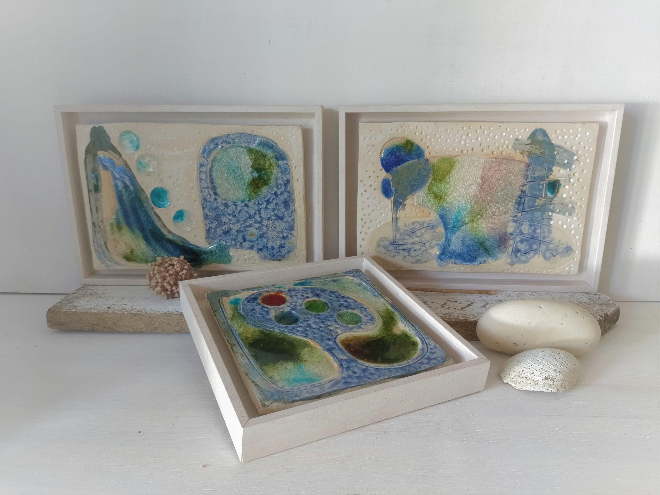 conjunto de lienzos cerámicos Los Árboles de la Lluvia