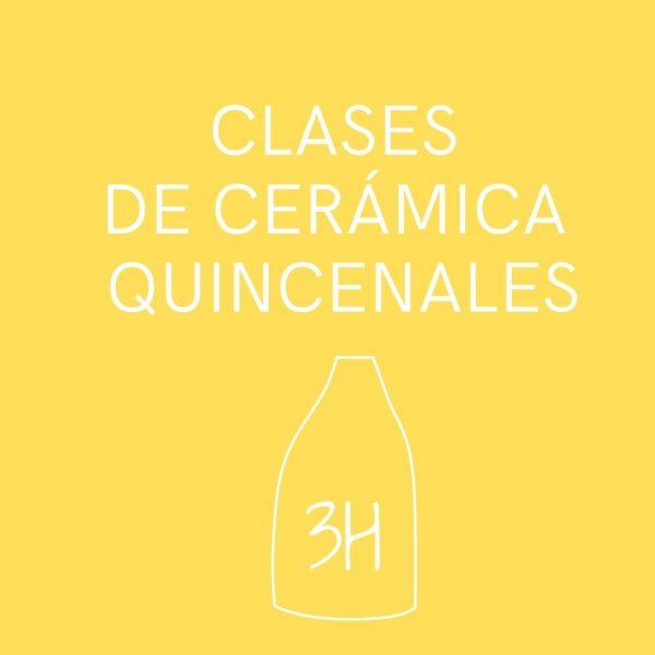 Clases presenciales de cerámica quincenales de tres horas de duración