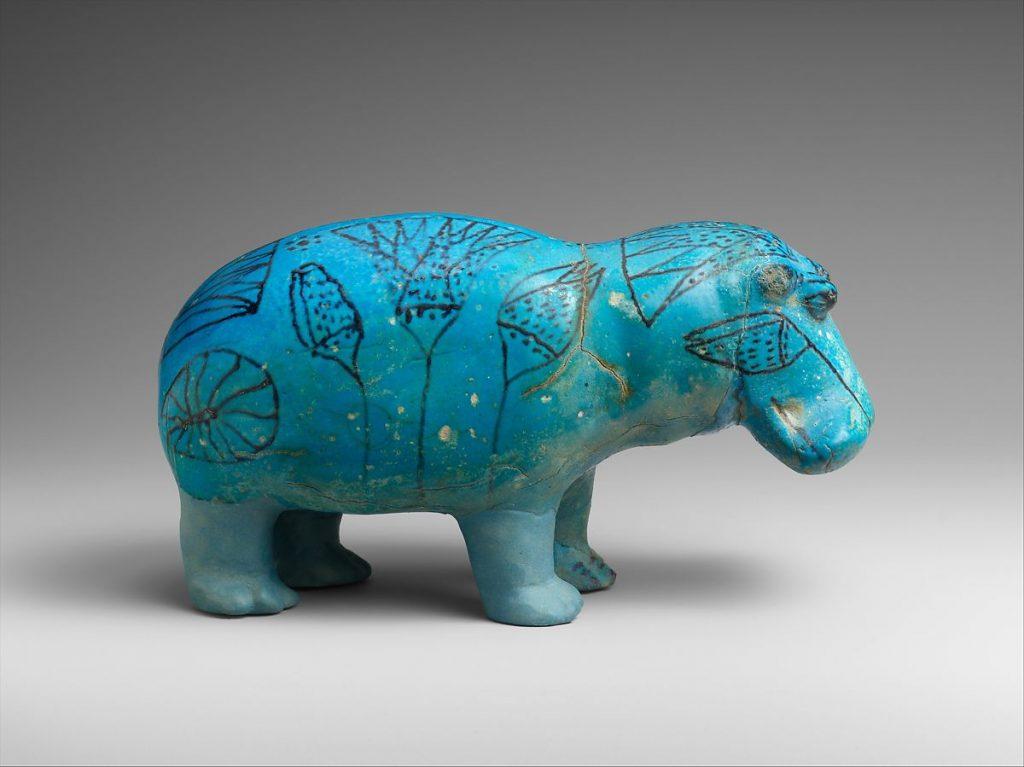 hipopótamo de pasta egipcia